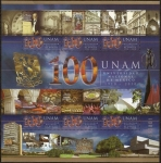 Sellos del Mundo : America : México : 100 años de la UNAM