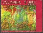 Sellos de America - Colombia -  BACHUE  Y  HUITICA