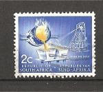 Stamps South Africa -  Pouring gold.
