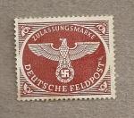 Sellos de Europa - Alemania -  Emblema nazi, entrega paquetas