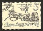 Stamps : Europe : Russia :  historia del correo ruso, correo en trineo
