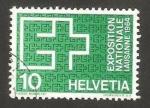 Sellos de Europa - Suiza -  exposicion nacional de lausanne, emblema