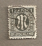 Stamps Germany -  A.M.G.