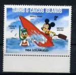 Stamps Turks and Caicos Islands -  olimpiadas de los angeles