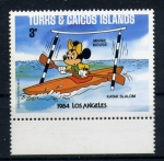 Stamps Europe - Turks and Caicos Islands -  olimpiadas de los angeles