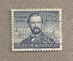 Stamps Germany -  75 Aniv del motor de 4 tiempos