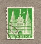 Stamps Germany -  Puerta Holsten de Lübeck