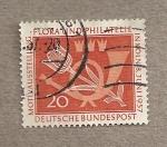 Sellos de Europa - Alemania -  Flora y filatelia