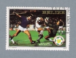 Stamps America - Belize -  Mundial de futbol. Scotland- New  Zealand