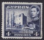 Sellos del Mundo : Asia : Chipre : Silver Jubilee Issue. Kolossi Castle