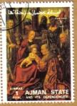 Stamps Asia - United Arab Emirates -  AJMAN - Pintura religiosa