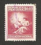 Sellos del Mundo : America : Perú : educacion nacional
