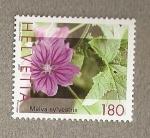 Sellos de Europa - Suiza -  Flores medicinales