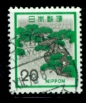 Sellos de Asia - Japón -  Pintura paisaje