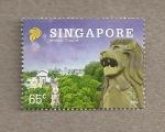 Sellos de Asia - Singapur -  Mirleón, símbolo de Singapur