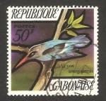 Sellos del Mundo : Africa : Gabón : pájaro, alcyon senegalensis
