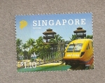 Stamps Asia - Singapore -  Sentosa, parque recreativo Singapur