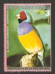 Sellos de Africa - Guinea Ecuatorial -   fauna, el pájaro diamante