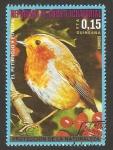 Stamps Equatorial Guinea -   fauna, el petirrojo