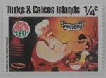 Sellos de America - Islas Turcas y Caicos -  chrismas  pinocchio