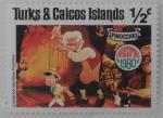 Stamps : America : Turks_and_Caicos_Islands :  chrismas  pinocchio