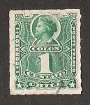 Stamps America - Chile -  BUSTO COLON RULETEADOS CENTAVOS BAJO LA CIFRA DEL VALOR.