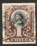 Stamps America - Chile -  BUSTO COLON RULETEADOS