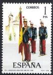 Sellos del Mundo : Europa : España : 2451 Uniformes. Abanderado de infantería, Regimiento inmemorial del Rey, 1908.