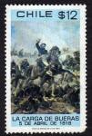 Stamps Chile -  carga de Bueras