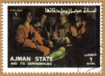 Stamps United Arab Emirates -  AJMAN - Pintura religiosa
