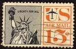 Sellos de America - Estados Unidos -  La Libertad
