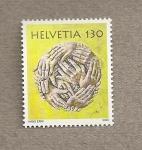 Stamps Europe - Switzerland -  Manos entrelazadas