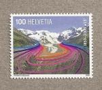 Stamps Switzerland -  Retroceso glaciares en 158 años