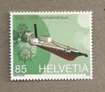 Sellos de Europa - Suiza -  80 Aniv Museo del transporte