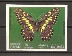 Stamps Asia - Oman -  Mariposas.