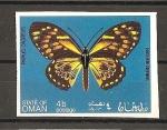 Sellos del Mundo : Asia : Omán : Mariposas.