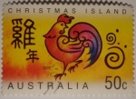 Sellos del Mundo : Oceania : Australia : Christmas island (gallo)