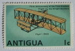 Stamps America - Antigua and Barbuda -  75 aniversario primer vuelo por los hermanos wright