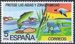 Stamps Spain -  2470 Protección de la Naturaleza. Aguas continentales.