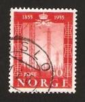 Stamps Norway -  centº de la primera linea telegráfica noruega