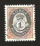 Stamps : Europe : Norway :  corneta de correos