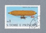 Sellos de Africa - Santo Tomé y Principe -  Dirigivel Paul Hanlein 1872