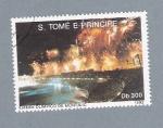 Sellos del Mundo : Africa : Santo_Tomé_y_Principe : Estadio Olimpico de Montjuic 1992