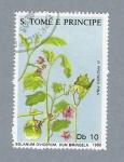 Sellos del Mundo : Africa : Santo_Tomé_y_Principe : Solanum Ovigerum