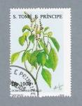 Stamps São Tomé and Príncipe -  Ocimun Viride Willd