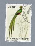Stamps Africa - São Tomé and Príncipe -  Trogon Pavonis