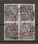 Stamps Germany -  Servicio / Con el numero 21 en esquinas inferiores.