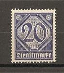 Stamps Germany -  Servicio / Sin el numero 21 en las esquinas inferiores.