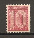 Sellos de Europa - Alemania -  Servicio / Sin el numero 21 en las esquinas superiores.