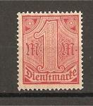 Stamps Germany -  Servicio / Sin el numero 21 en las esquinas superiores.